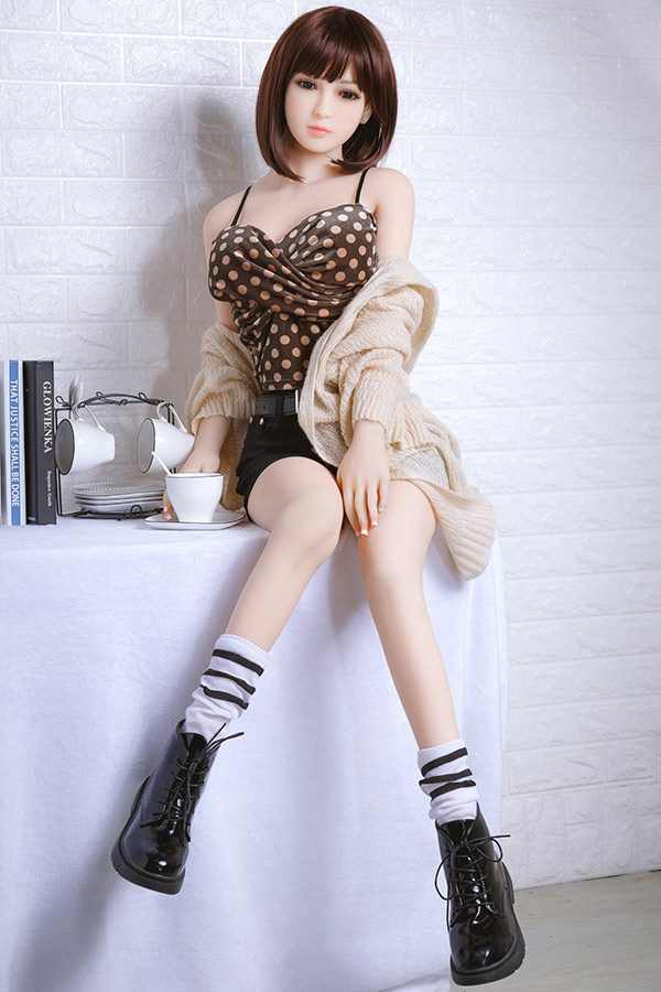 Perfect Japanese Short Hair Cute Sex Doll Magdalen 148cm