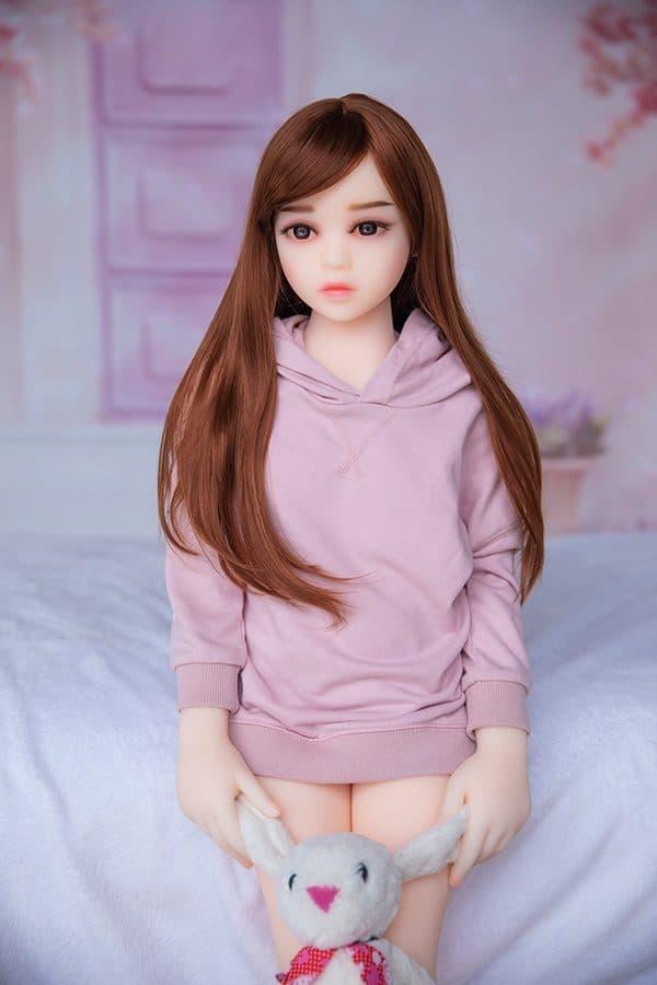 New Tiny Miniature Flat Chest Sex Doll Evelynn 100cm