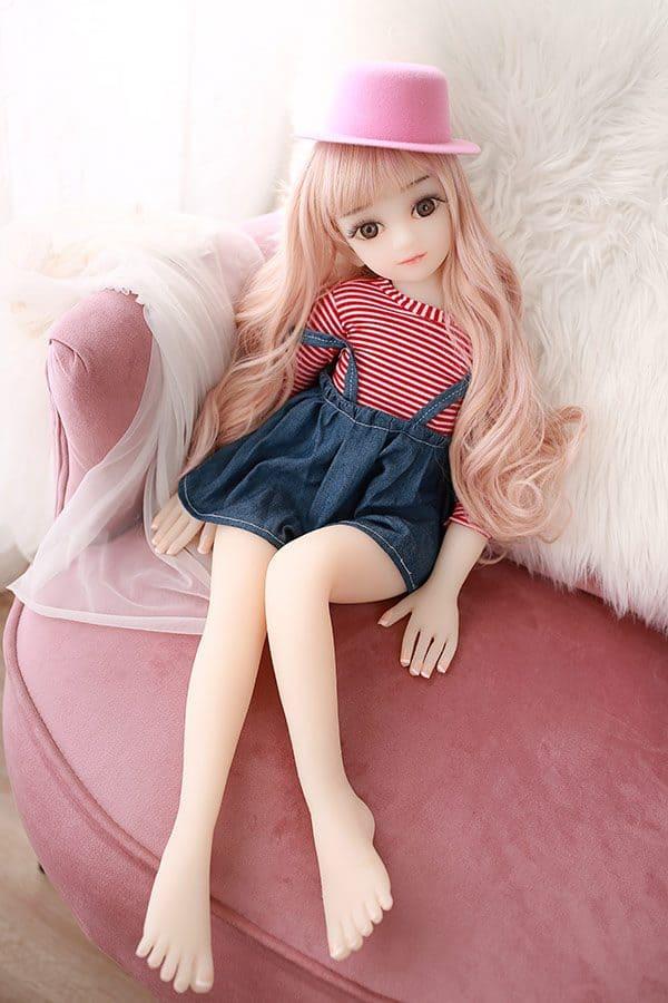 Mini Cute Flat Chested Real Sex Doll Hazel 65cm