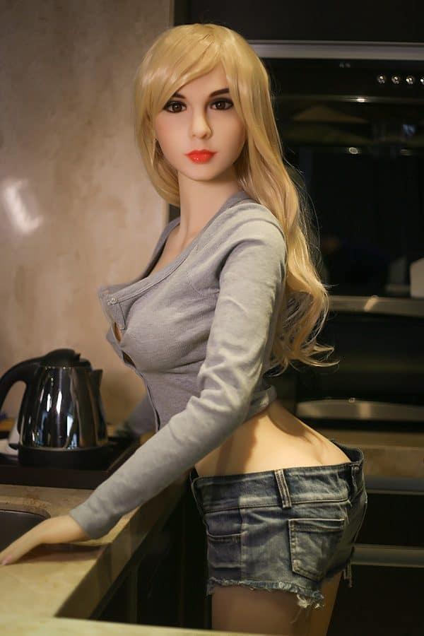 Blonde Mature Skinny Lifelike Sex Doll Tiffany 158cm