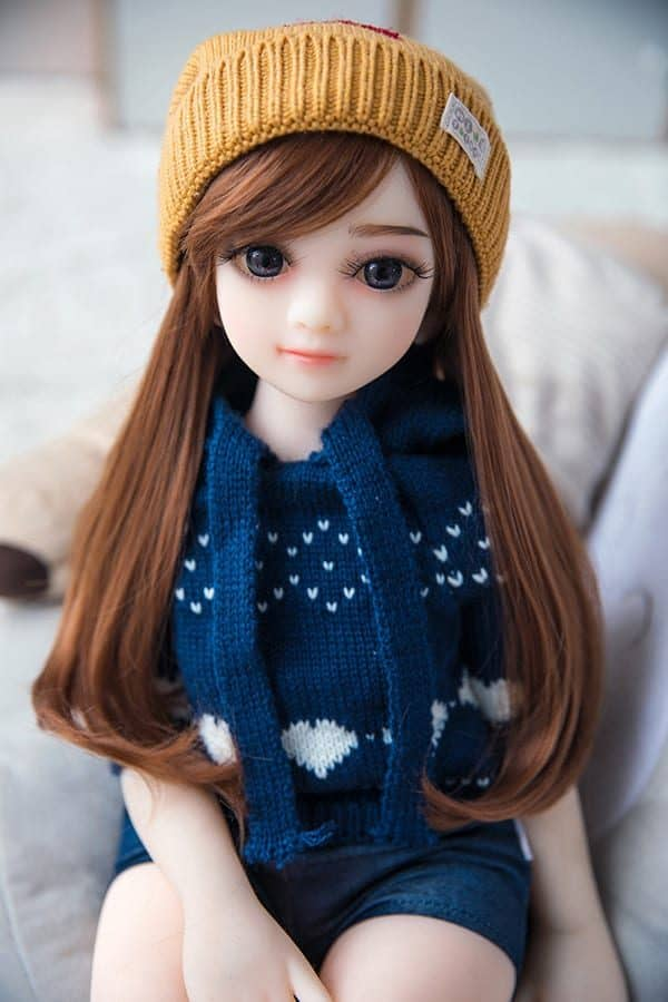Inexpensive Big Eyes Cute Mini Sex Doll Pauline 65cm