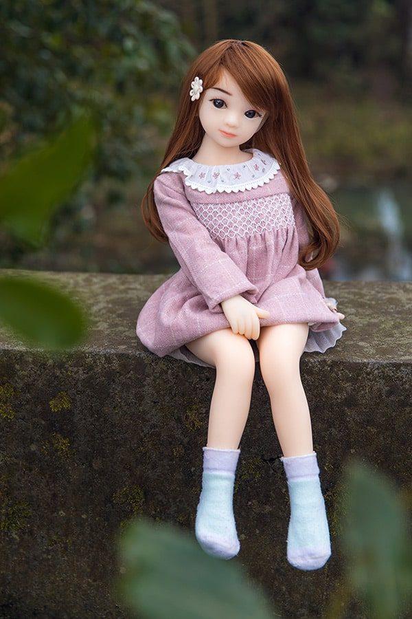 Realistic Cute Loli Mini Sex Doll Emma 65cm