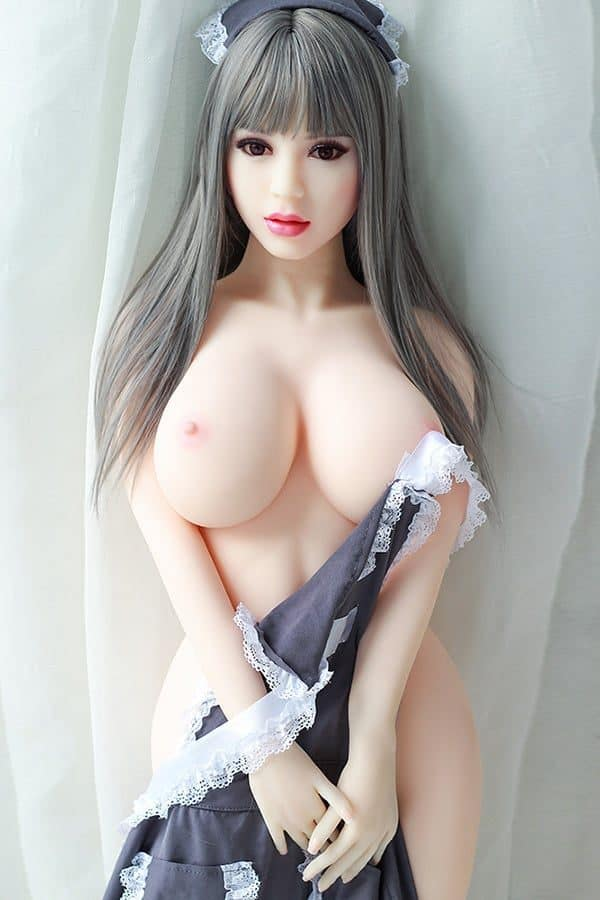 Full Size Gray Hair Maid Cosplay Sex Doll Annette 140cm
