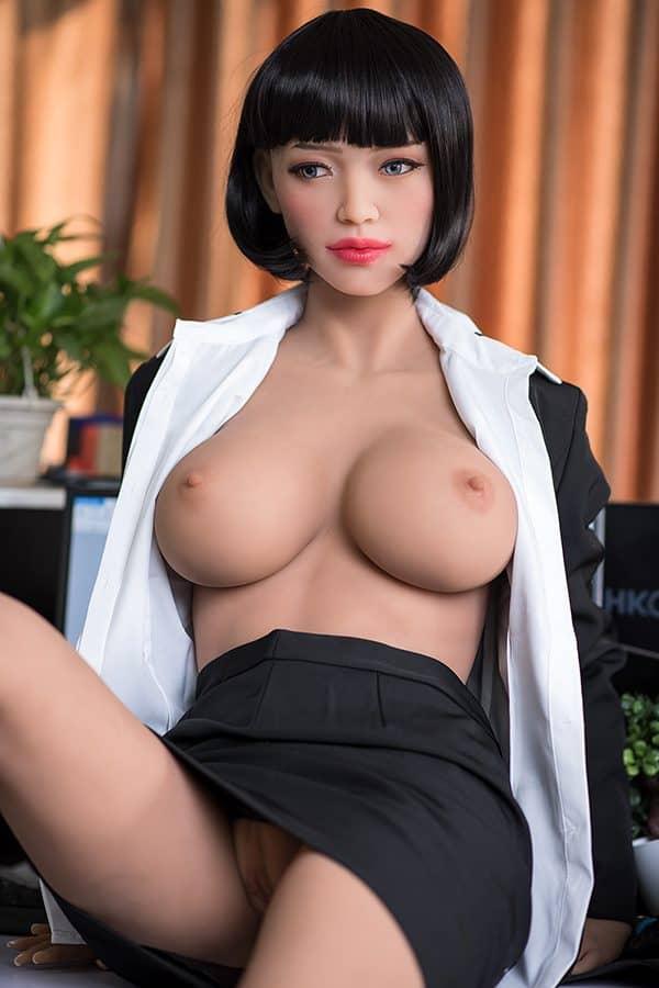 TPE Japanese Office Worker Sex Love Doll Kelly 165cm