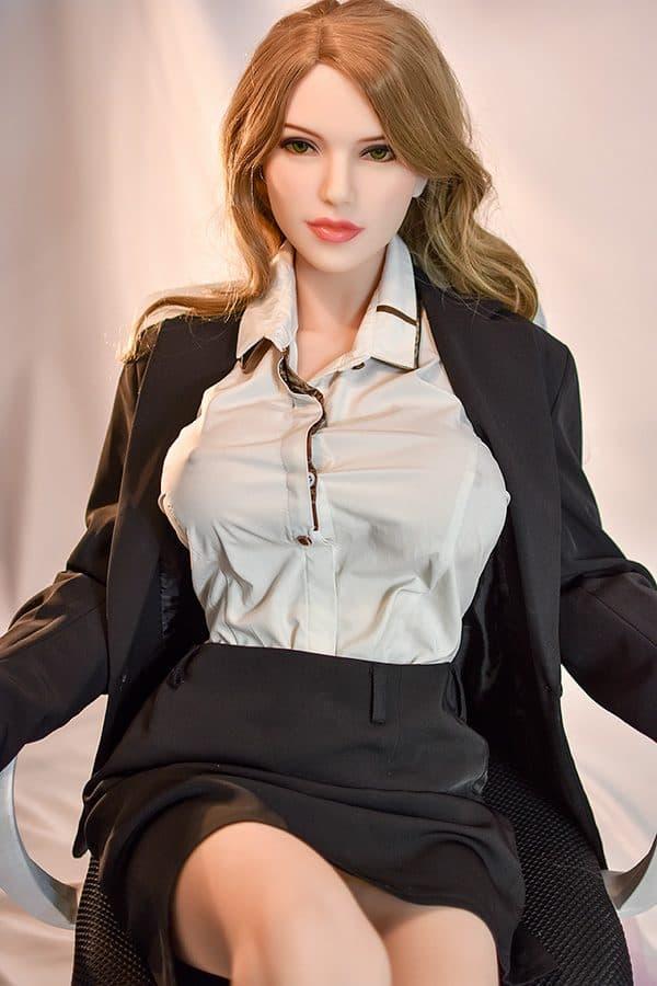 TPE Perfect Milf Uniform Lifelike Sex Doll Betty 165cm