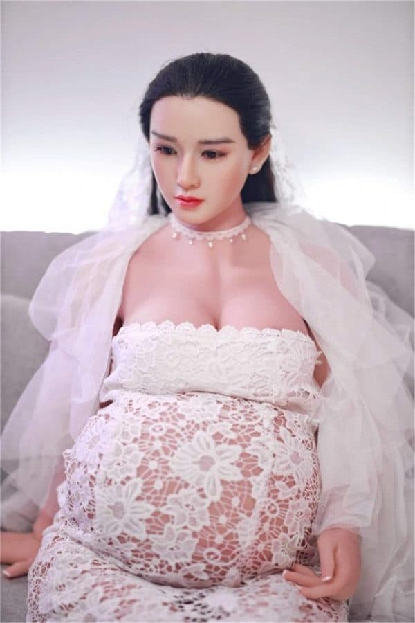 Asian Beautiful Pregnant Sex Doll Debbie 160cm (Silicone Head)