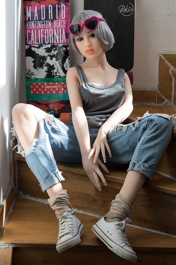 Lifelike Cute Small Boobs Teen Sex Doll Lee 156cm