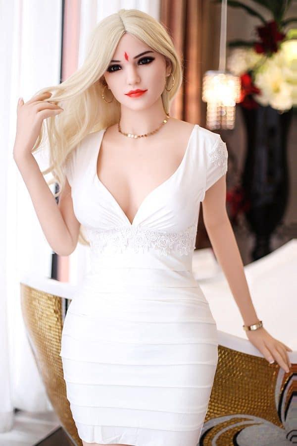 Blonde Indian Noble White Skin Female Sex Doll Hilda 165cm