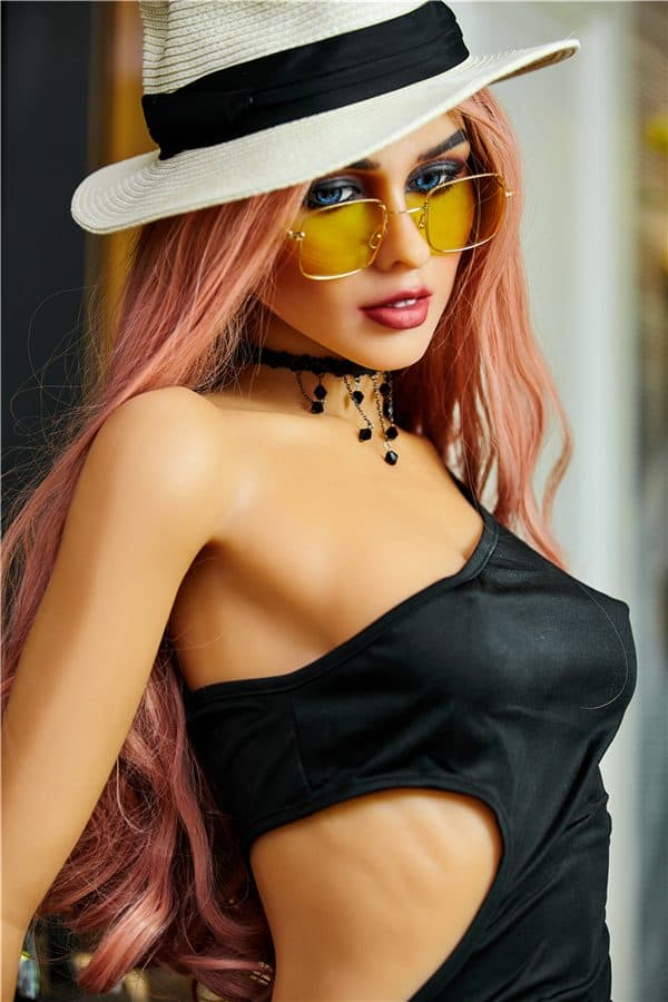 Top TPE Full Size Red Hair Fashion Young Sex Doll Ada 165cm