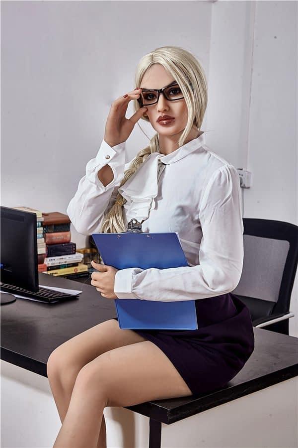 Sexy Blonde Small Breasted Office Secretary Sex Doll Ariya 168cm
