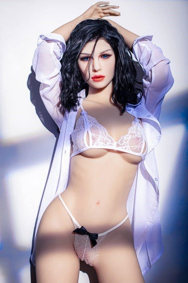 Realistic Lifelike Sexy Small Boobs American Sex Doll Sasha 158cm