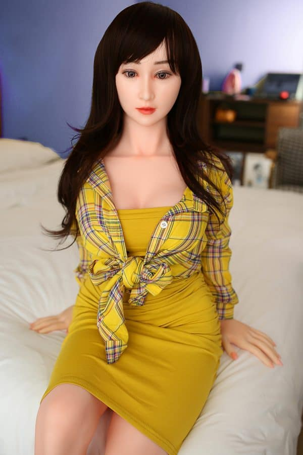 High-end Silicone Asian Japanese Female Sex Doll Delaney 146cm