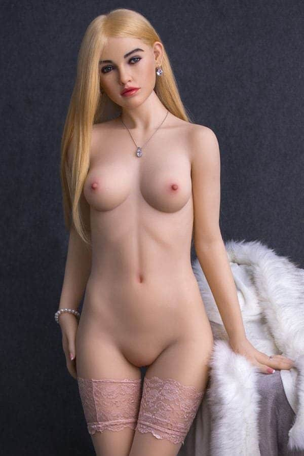 Realistic Lifelike Young Blonde Small Breasted Female Sex Doll Freya 163cm