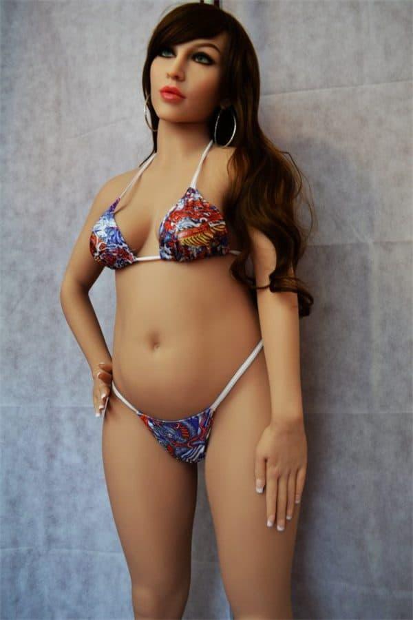 Real Life Lifelike Small Breasted Pregnant Sex Doll Elaina 158cm